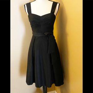 NWOT WHBM gorgeous black strap dress Sz 0